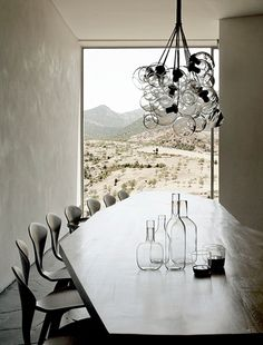 cherner chairs, lamp, window, plaster. perfect.