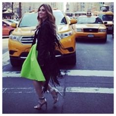 Pop of color with this bright Green & silver heels - POW! @ such a betty | betty gulko stylist