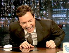 In love with Jimmy Fallon.. He is both hilarious and genuinely good hearted. He was born in New York.
