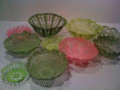 More doily lace bowls.