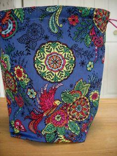 Knitting project bag Kip bag project bag crochet by brightcraft