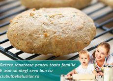 Biscuiti cu mere si ovaz pentru copii - Clubul Bebelusilor Baby Food Recipes, Healthy Recipes, 1 An, Hamburger, Biscuits, Health Fitness, Food And Drink, Sweets, Cookies