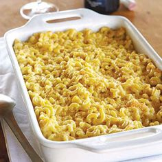 Macaroni and Many Cheeses    This version of mac n' cheese works beautifully with any semi-hard cheese but is particularly good with an international blend of French Mimolette, aged Dutch Gouda, and American Vella dry Jack. A fine layer of Italian Parmigiano-Reggiano forms a crisp topping.    Recipe: Macaroni and Many Cheeses