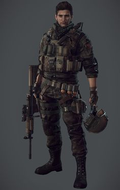 Pin by rigel arsem on male sci fi fashion in 2019 Cyberpunk, Character Concept, Character Art, Concept Art, Post Apocalypse, Apocalypse Character, Future Soldier, Sci Fi Characters, Gangsters