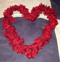 Red sparkly sashay scarf by CorasPalace on Etsy