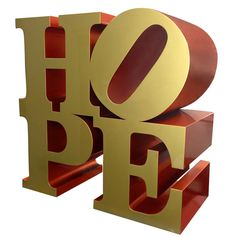 Robert Indiana, Robert Indiana HOPE_Gold-Red , Contini Art Gallery