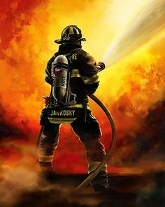 Order personalized firefighter artwork online from Fireart. Our customized artwork will honor your firefighter on any occasion. Firefighter Family, Firefighter Paramedic, Firefighter Pictures, Firefighter Gifts, Volunteer Firefighter, Firefighter Quotes, Firefighter Drawing, Firefighter Photography, Fire Tattoo