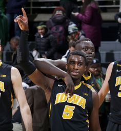 — Denzel Valentine was there this time. So were screaming fans, most of them clad in green. Didn't matter to the Iowa Hawkeyes. Iowa Hawkeye Basketball, Denzel Valentine, East Lansing, Iowa Hawkeyes, Hawks, Yellow, Sports, Black, Falcons