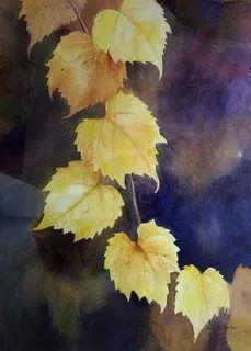 Watercolor Negative Painting, Watercolor Leaves, Painting & Drawing, Painted Leaves, Leaf Art, Watercolor Techniques, Painting Inspiration, Flower Art, Photo Art
