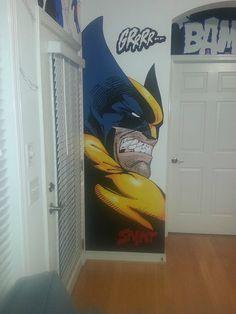 Marvel wall paintings