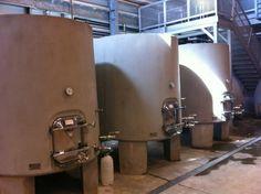 Les cuves en ciment @cuvaison ready for 2012 Pinot Noir #NVHarvest