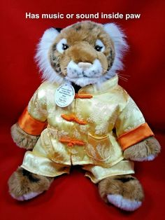 Build a Bear Tiger World Wildlife WWF BABW asian outfit Plush stuffed #BuildABear #AllOccasion