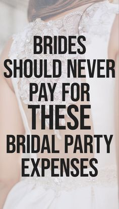 Planning a wedding costs a lot of money, but the one area where the bride shouldn't have to pay for much is her bridal party. More on SHEfinds.com.    #wedding #weddingplanning #weddingplanner #weddingtips #weddingideas #weddingdecor #weddingfashion #weddingdresses #bridaldresses #bridalfashion #bride #groom #bridalhair #weddinghair #bridalmakeup #weddingreception #weddingphotography #engagement #engagementphotos #engagementparty #bridalshower #bachelorette Wedding Costs, Wedding Advice, Wedding Vendors, Wedding Couples, Dream Wedding, Wedding Ideas, Wedding Rustic, Wedding Stuff, Second Weddings