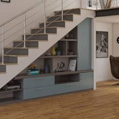 Super under the stairs ideas design railings Ideas Home Stairs Design, Interior Stairs, Home Interior Design, House Design, Design Design, Staircase Storage, House Staircase, Stair Storage, Space Under Stairs