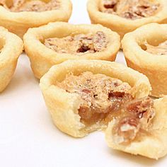 Butter Pecan Tassies. I could use this at Thanksgiving instead of making a pie.