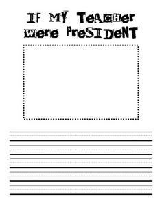 president's day writing freebie