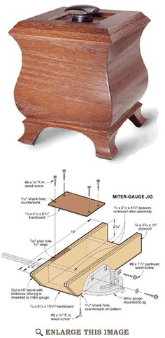 Crown Molding Boxes Woodworking Plan, Joinery Project Plan | WOOD Store
