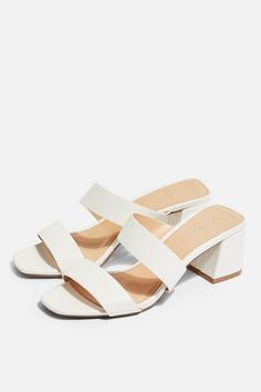 Say hello to our latest stylish shoes with these white mules with cross over strap and open toe. Mules Shoes, Shoes Sandals, Women Sandals, Wedge Mules, Sandals Outfit, Mule Sandals, Heeled Sandals, Flat Sandals, Ballet Shoes