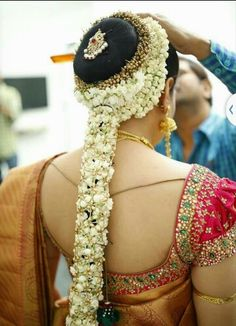 Traditional Indian bridal hairstyle