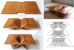 Folding Flat-Pack Table