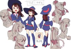 artbooksnat: Little Witch Academia (リトル ウィッチ アカデミア) Full-color... Tags: #other_peoples_art little witch academia