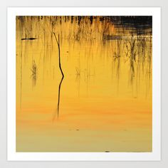Reflections at the lake Art Print by Guido Montañés - $20.00