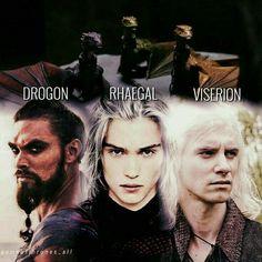 Drogon, Rhaegal, Viserion, targaryen, dragon game of thrones khal drogo Game Of Thrones Facts, Game Of Thrones Dragons, Got Game Of Thrones, Game Of Thrones Quotes, Game Of Thrones Funny, Drogon Game Of Thrones, Game Of Throne Daenerys, Daenerys Targaryen Dragons Names, Rheagar Targaryen