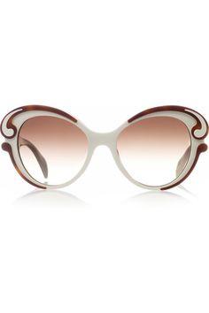 Prada|Butterfly-frame acetate sunglasses|NET-A-PORTER.COM