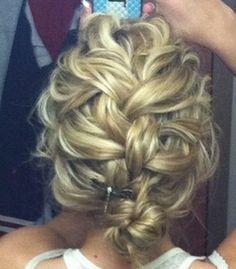curly hair braid updo / bun-styles that keep me from cutting my hair