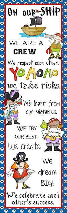 Barkett Barkett Lewis …thought of your pirate theme for this. Classroom Displays, School Classroom, Classroom Themes, Classroom Organization, Classroom Rules, Future Classroom, Pirate Day, Pirate Theme, Pirate Decor