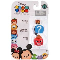 Disney Tsum Tsum Series 4 Pumbaa & Anger Minifigure 3-Pack, Multicolor