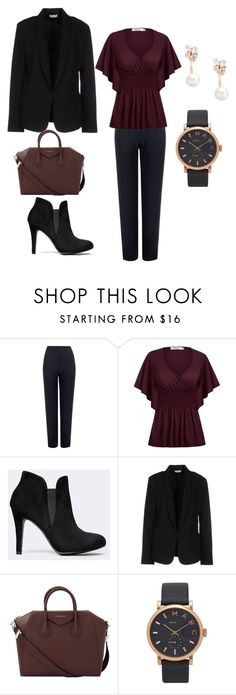 """Apple shape - Classic style"" by aura-iordan ❤ liked on Polyvore featuring WearAll, Maesta, Givenchy, Marc Jacobs and Kate Spade"