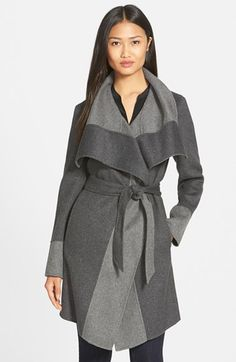 Diane von Furstenberg 'Mackenzie' Two-Tone Cozy Coat (Nordstrom Exclusive) available at #Nordstrom