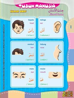 Baca Online Kamus Pintar Bergambar 3 Bahasa adalah buku kamus bergambar full warna dalam 3 bahasa: Indonesia, Inggris, dan Arab untuk anak. Arabic Phrases, Arabic Words, Learning Arabic, Kids Learning, Baca Online, Modern Standard Arabic, Ramadan Poster, Learn Arabic Online, Arabic Lessons