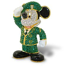 Army Mickey Mouse Figurine by Arribas - Jeweled