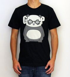 Grumpy panda is not amused.100% Fine Jersey Cotton. Durable rib neckband. Form-fitting. Screen printed with environmental friendly water based ink.