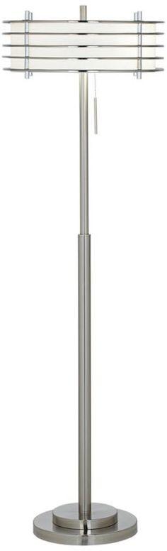 gossamer clear acrylic cylinder 53 inch h modern floor. Black Bedroom Furniture Sets. Home Design Ideas