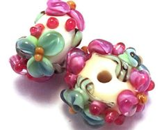 Lavender Mint Ivory Floral Spacers