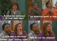Thats So Raven! Everyone thought the crazy baby sitter was trying to kill them... laughter