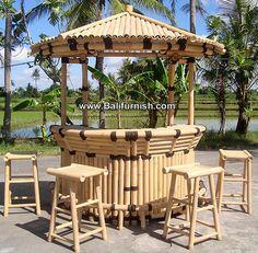 hut2-19-bamboo-tiki-bar-producer-bali-indonesia Small Backyard Patio, Backyard Garden Design, Yard Design, Design Design, Bamboo Bar, Bamboo Garden, Bali Huts, Bamboo House Design, Diy Outdoor Bar