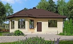 Little House Plans, Small Modern House Plans, Small House Exteriors, My House Plans, House Outside Design, Small House Design, Village House Design, Village Houses, Small Bathroom Layout