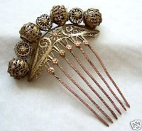 Mrs. Kendal would be seen wearing accessories such as this comb in her hair.