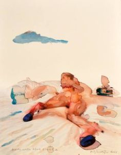 Nude with blue cloud