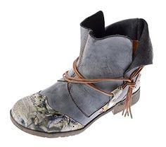 Damen Comfort Leder Stiefeletten TMA 5161 Boots Schwarz Grün Braun Weiß Rot Knöchel Schuhe Stiefel - http://on-line-kaufen.de/tma/damen-comfort-leder-stiefeletten-tma-5161-boots
