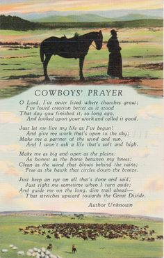 """A Cowboy's Prayer"""