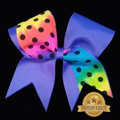 Tie Dye Dottie WAVE Cheer Bow- Chosen Bows