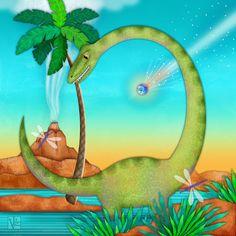 Picture Diary: D is for Dinosaur Dinosaur Illustration, Cute Illustration, Digital Illustration, Dinosaur Pictures, Letter D, Drake, Whimsical, Digital Art, Banner