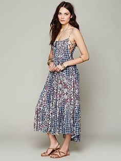 Free People FP ONE Geo Gypsy Maxi Dress It is so hot out, I need this!