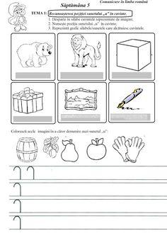Lumea lui Scolarel...: Săptămâna 5: fișă de lucru C.L.R.(I) Worksheets For Kids, Crafts For Kids, Kindergarten, Gallery Wall, Bullet Journal, Classroom, Teacher, Letters, Activities