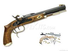 Traditions™ - Trapper - Black Powder Pistol - Parts Kit Black Powder Guns, Hand Cannon, Long Rifle, Hobby Kits, Hunting Gear, Mountain Man, Guns And Ammo, Knife Making, Revolver